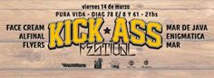 HOY 14/03 | 21hs Kick Ass Festival (2da Edición) * Alfinal Rock * Face Cream * FLYERS * Enigmática Argentina * Mar de Java (Capital) * Mar (Capital) En Pura Vida Bar (Diagonal 78 Nº 699 e/ 8 y 61) La Plata (BSAS) Entrá en el Blog de CGCWebRadio y enterate de todo!!! Twitter Seguinos en: @CGCWebRadio Argentina (https://twitter.com/CGCWebRadio) Facebook Hacete Fan en: /CGCWebRadio (https://www.facebook.com/CGCWebRadio)