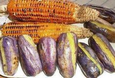 More Roasted Corn and Roasted Plums