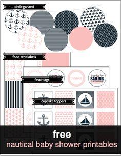 free nautical baby shower printables