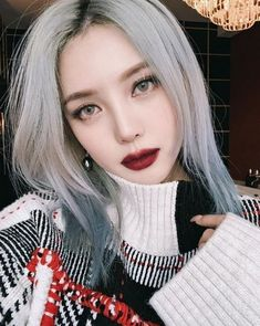asian makeup – Hair and beauty tips, tricks and tutorials Ulzzang Hair, Ulzzang Makeup, Korean Beauty Tips, Asian Beauty, Pony Makeup, Hair Makeup, Eye Makeup, Silver Ash Hair, Korean Hair Color