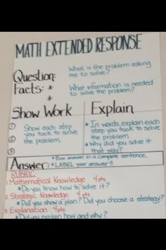 Math extended response