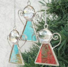 Stained Glass Angel Christmas Tree Decoration by 20ethCenturyGirl, £4.50