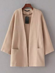 SheIn offers Apricot Long Sleeve Pockets Casual Coat & more to fit your fashionable needs.To find out about the Apricot Long Sleeve Pockets Casual Coat at SHEIN, part of our latest Outerwear ready to shop online today!New designer fashion clothingDe Look Fashion, Hijab Fashion, Fashion Models, Fashion Outfits, Ladies Fashion, Iranian Women Fashion, Korean Fashion, Coats For Women, Jackets For Women
