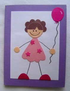 Punch out birthday card