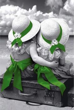Sister Love, Children of the World ? Green Color Splash Photography : Sister Love, Children of the World ? Color Splash, Color Pop, Splash Art, Splash Photography, Black And White Photography, World Of Color, Color Of Life, Black Image, Green Life
