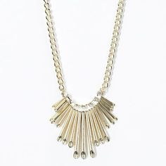 Simply Vera Wang gold tone simulated crystal bib necklace. Kohl's $15.20