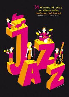 Blog de Cómics.: Cartel de Mauro para el Festival de Jazz de Vitoria
