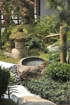 Bamboo fountains are also a great addition to Japanese gardens. They provide a strong Japanese influence while also instilling movement and ambiance. #japanesegardening #JapaneseGardens