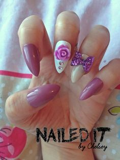 NAILED IT  Hand painted false nails  Lovely by NailedItByChelsey