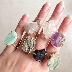 Jewelry by brand – Fine Sea Glass Jewelry Raw Gemstone Jewelry, Raw Crystal Jewelry, Sea Glass Jewelry, Beaded Jewelry, Quartz Jewelry, Quartz Necklace, Cute Jewelry, Jewelry Crafts, Bridal Jewelry
