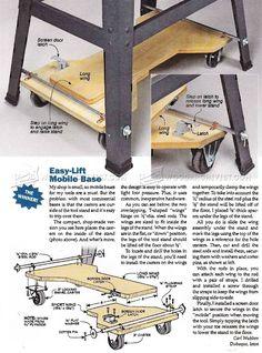 DIY Mobile Base - Workshop Solutions Plans, Tips and Tricks | WoodArchivist.com