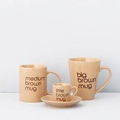 Bloomingdale's - Brown Mugs by BIA Cordon Bleu a Bloomingdale's Exclusive - 100% Exclusive