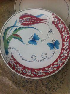 Çini ve seramik birlikte tabak