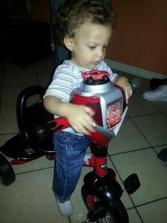 With his bike