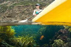 Kayaking at Channel Islands National Park.