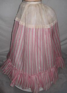 Image detail for -... 1800′s Victorian Rare Pink Stripe Bustle Hoop Dress Skirt Petticoat