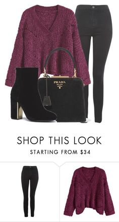 """""""Outfit #1900"""" by lauraandrade98 on Polyvore featuring moda, Topshop y Prada"""