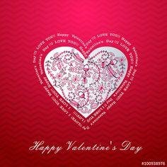 Vector: Valentine card