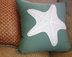Sand Dollar Pillow by CassMichelleDesigns on Etsy