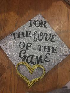 Graduation cap softball edition