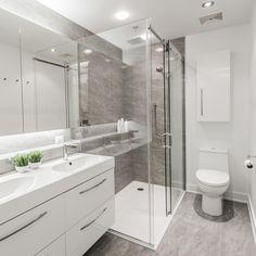Dorion Project Reveal - Master Bathroom - Valérie De L'Étoile Interior Design Condo, Construction, Corner Bathtub, Alcove, Master, Shower, Bathroom, Design, Home Decor