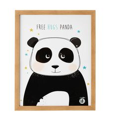 Cuadro con panda 43 x 53 cm PING