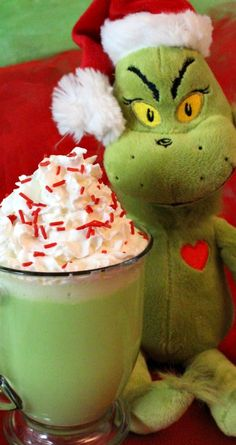 Grinch Hot Vanilla Milk ~ A fun How the Grinch Stole Christmas themed Christmas Treat that is so easy to make. It tastes great too!  It is guaranteed to make YOUR heart grow three sizes and fill you with the true meaning of Christmas just like the Grinch!