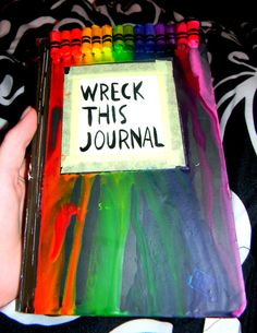 112 best wreck this journal ideas inspiration images on pinterest melted crayons on the wreck this journal cover solutioingenieria Images