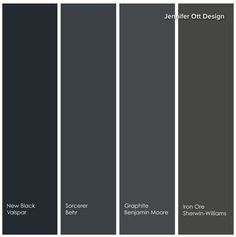 Grey Paint Colors, Room Paint Colors, Paint Colors For Home, House Paint Exterior, Exterior House Colors, Iron Ore Sherwin Williams, Peppercorn Sherwin Williams, Playroom Paint, Media Room Design