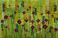 Helen Conway Pieced and fused, machine and hand quilted. Materials include hand-dyed cottons, abacca tissue, beads, wire, mulberry paper, laminated paper, garden cane, acrylic paint, beads, Perle threads and – of course! – the wax print scraps left over from Leaving The Accra Quilt Show