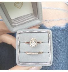 ENGAGEMENT ring // pear halo engagement ring // by MyBelovedCo