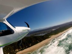 Flying over Sedgefield coastline. Western Cape. South Africa