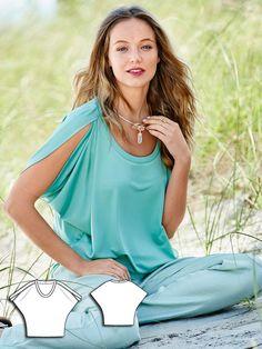 Cape T-Shirt 05/2015 #burdastyle #sewing #pattern #sew #diy #style