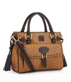 Dooney and Bourke OstrichEmbossed Medium Pocket Satchel Big Purses, Purses And Bags, Fab Bag, Cowgirl Boots, Laptop Bag, Purse Wallet, Dooney Bourke, Dillards, Shoulder Strap