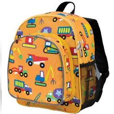 Wildkin Toddler Construction Backpack, Multi-Colour