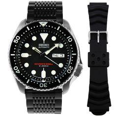 Seiko Automatic Mens Watch SKX007J Seiko Automatic Watches, Seiko 5 Sports Automatic, Seiko Watches, Mens Watches Online, Watches For Men, Scuba Diving Watches, Authentic Watches, Seiko Diver