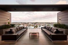 Cubo Luxus-Penthouse Wohnung-Outdoor Sofa-Set Ausblick-Melbourne