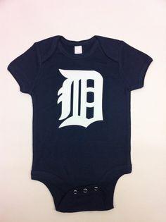 Detroit Tigers Onesie by PlanBTee on Etsy, $15.00