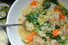Spring Minestrone with Chicken Meatballs | shutterbean