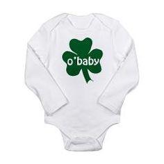 O'Baby Shamrock St. Patrick's Day Baby Onesie.