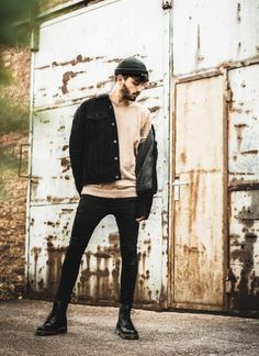 Stylish Mens Outfits, Casual Outfits, Men Casual, Fashion Outfits, Dr Martens Outfit, Dr Martens Men, Doc Martens, Staple Wardrobe Pieces, Men Photoshoot