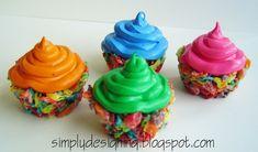 Fruity Pebble Cupcake Treats