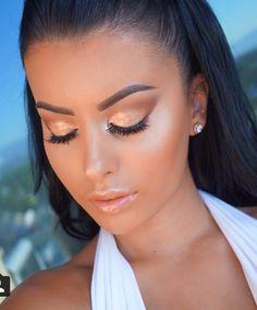 Bronzed makeup