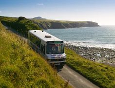 The fantastic network of buses that pick up/drop off passengers all along the glorious Pembrokeshire Coast Path... the Poppit Rocket, the Strumble Shuttle, the Coastal Cruiser, the Puffin... take your pick!