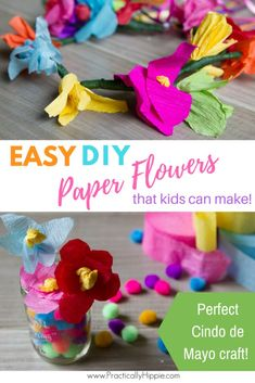 DIY Paper flowers for Mexican-inspired flower crowns | DIY gifts | DIY flowers