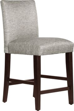 Counter Stool Seat Upholstered Plush Foam Padded Pewter Dining Room Furniture #SkylineFurniture #Stool #Seat #Furniture #Dining