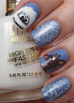 Tutorial Tuesday: Abominable Snowman Nail Art!