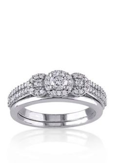Belk  Co.  12 ct. t.w. Diamond Bridal Ring Set in 10k White Gold