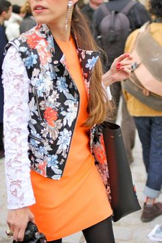 Orange and Floral