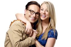 "Kaley Cuoco and Johnny Galecki from CBS's ""The Big Bang Theory"""